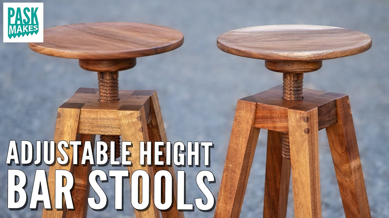 Making Adjustable Height Bar Stools