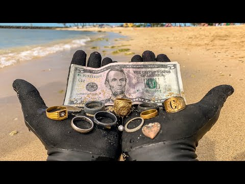 I Found 9 Wedding Rings Underwater in the Ocean While Metal