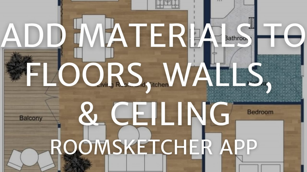 Roomsketcher Balcony Add Materials To Floors Walls And Ceilings Roomsketcher App