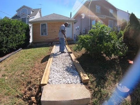 Cheap Gravel Walkway For QUICK FLIP HOUSE