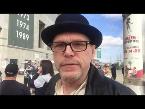 Walter White Of Breaking Bad At Oakland Raiders NFL Stadium Press Conference