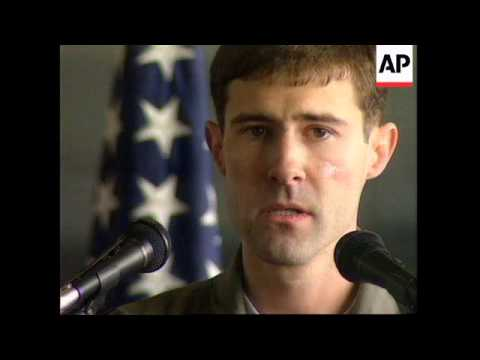ITALY: US PILOT RESCUED IN BOSNIA WELCOMED AT AVIANO AIRBASE