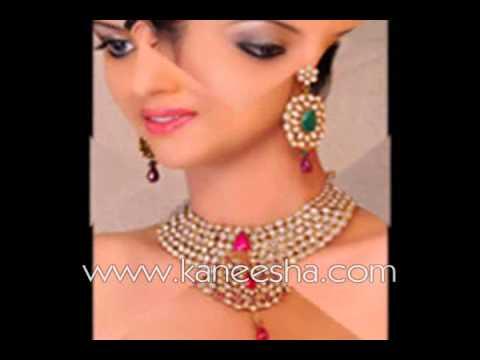 Bridal Fashion Jewelry, Designer Gold Plated Jewelry