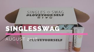 SinglesSwag Subscription Box Unboxing August 2018