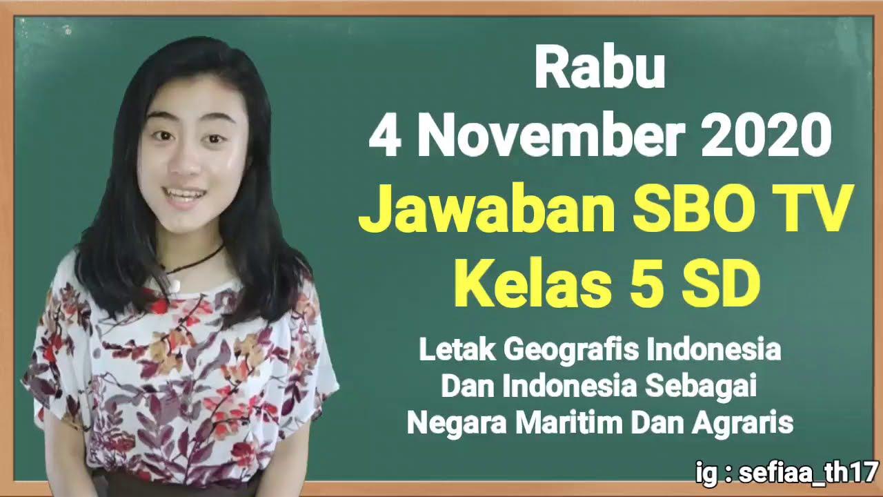 Kunci Jawaban SBO TV Kelas 5 SD Rabu 4…