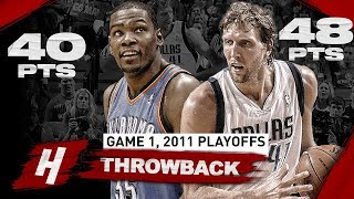 The Game Kevin Durant Met PRIME Dirk Nowitzki! EPIC Game 1 Duel Highlights | 2011 NBA Playoffs WCF