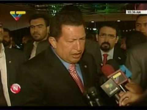 Llegada de Chávez a Iran