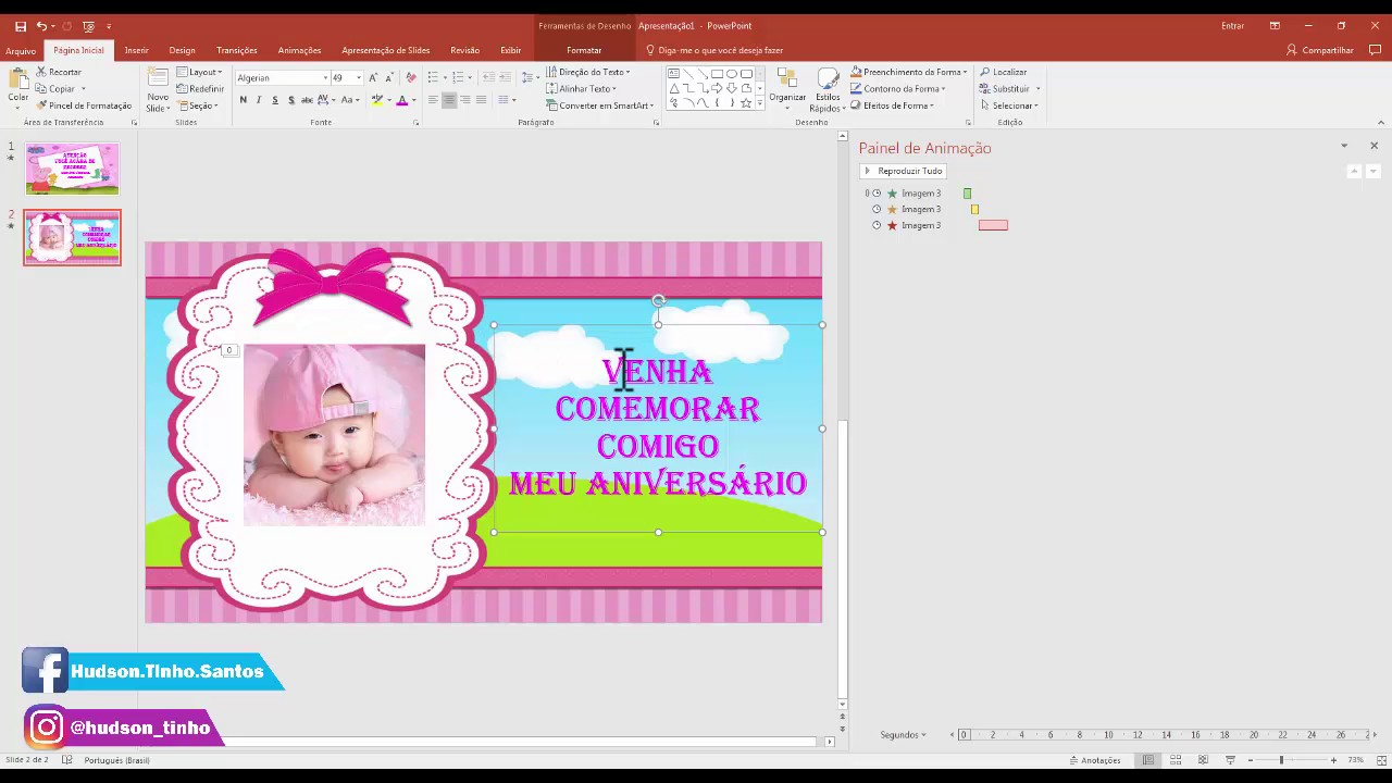 Como Fazer Convite Virtual Animado No Power Point Atualizado Youtube