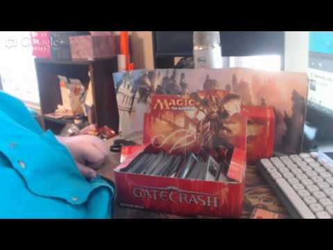 *prerecorded* Opening a Box of Magic the Gathering Gate Crash