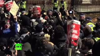 Fury & Fire: Burning car, clashes with police at Million Mask March in London