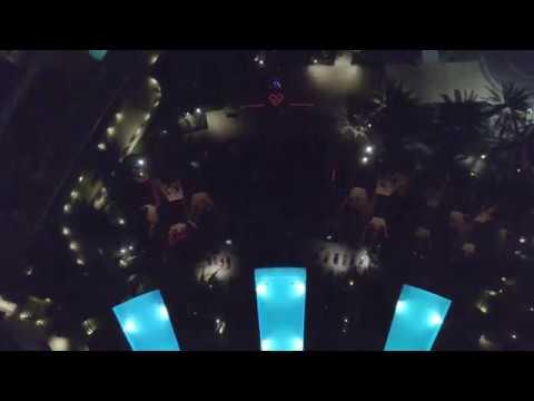 Silent Savasana Yoga at Red Rock Casino by Drone in Las Vegas Nevada 10/19/2017