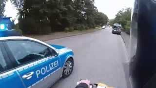 Epic Moped Police Chase in Germany (Roller Verfolgungsjagd)
