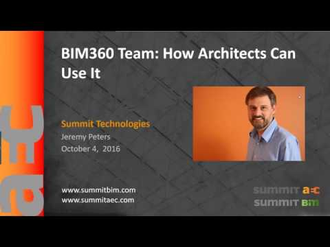 BIM 360 Team - How Architects Can Use It