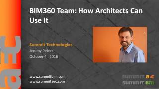 bim 360 team how architects can use it