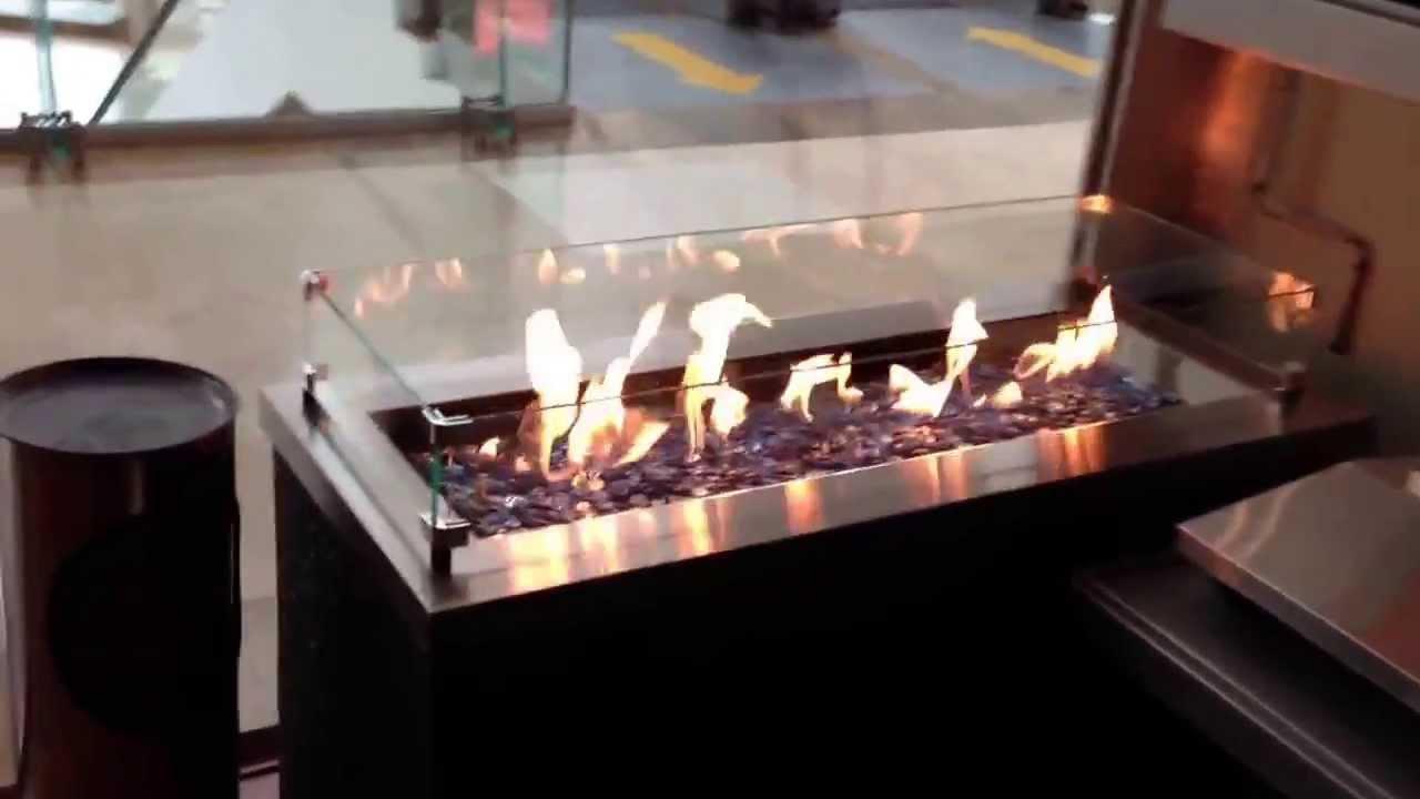 Chimeneas de exterior tecnolog a fuego cristal en - Fuego decorativo para chimeneas ...