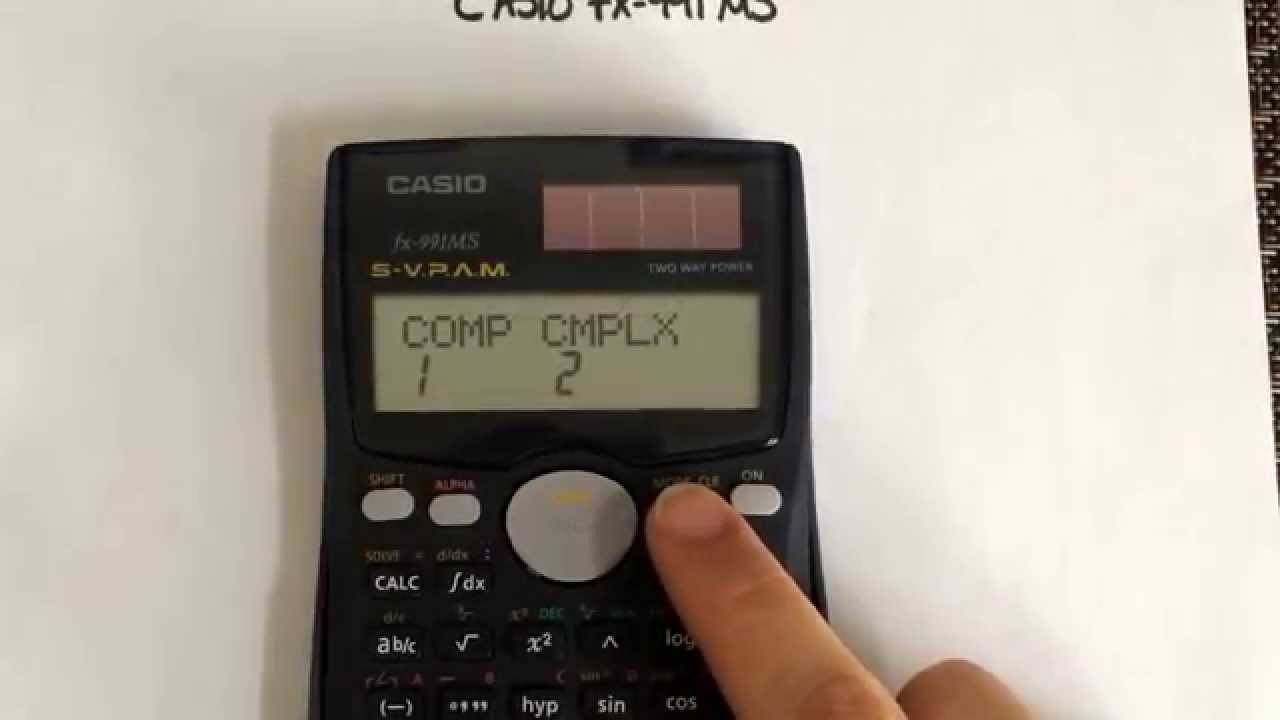 Converting your casio fx 991ms from scientific to normal mode youtube falaconquin