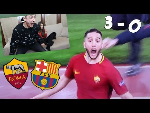 *I''M CRYING* REACTION TO ROMA - BARCELLONA 3-0 !!!