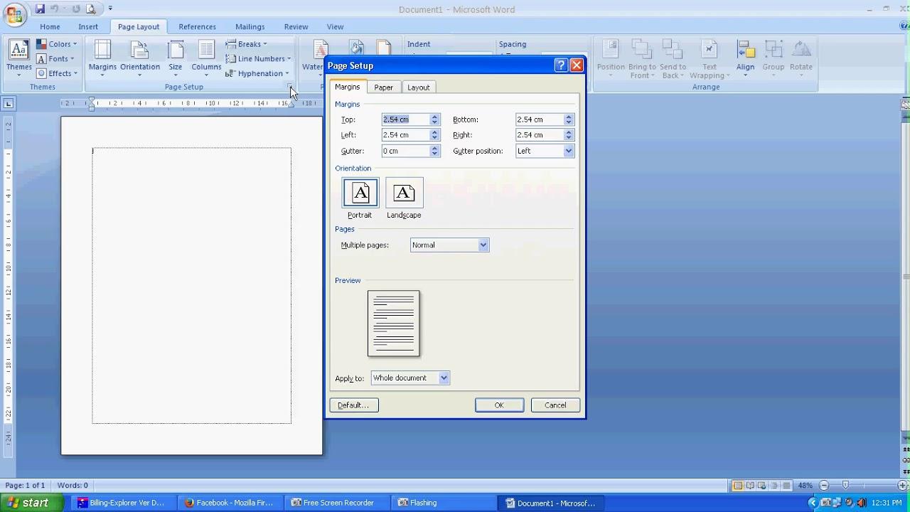 Ukuran F4 Di Microsoft Word 2007 Berbagai Ukuran