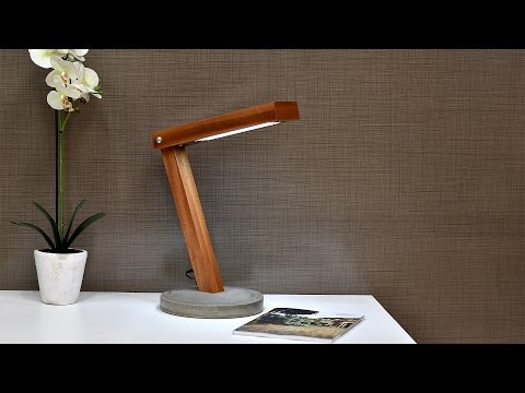 Diy LED Desk Lamp With Concrete Base