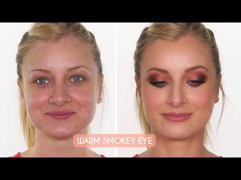 Makeup Tutorial: Warm Smokey Eye & Full Coverage Skin