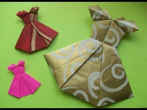 Как сделать платье из бумаги открытка