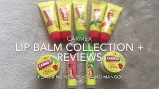 carmex collection and reviews featuring peach mango burst