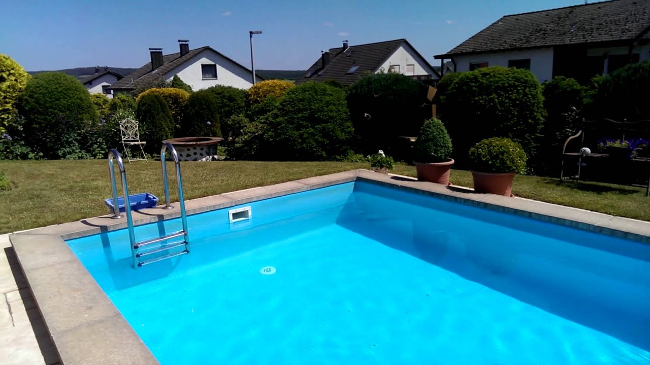 Sch ner garten mit pool youtube for Pool garten gunstig