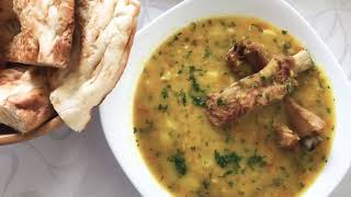 Гороховый суп с копчёными рёбрышками в мультиварке. (Белорусская кухня)