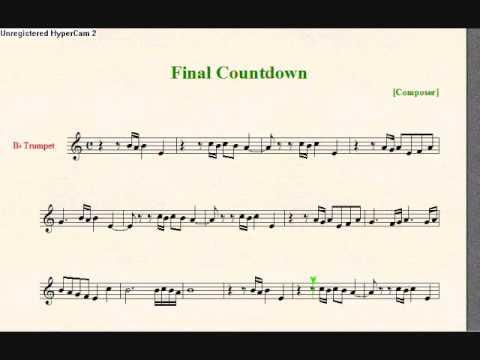 partition trompette the final countdown