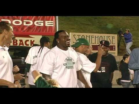 CSU vs. BYU - Gartrell Chest-Bumps Joey Porter
