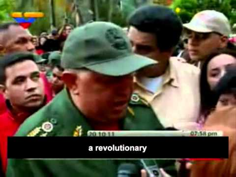 Chavez reacts to the Kadhafi's death !