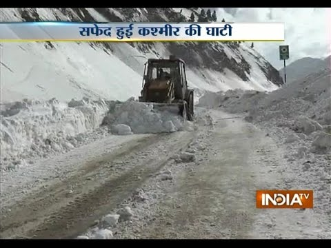 Jammu and Kashmir: Highway Closed Down after Heavy Snowfall in Rajouri