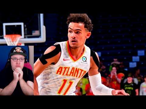 TRAE YOUNG GAME WINNING HALF COURT SHOT! SAN ANTONIO SPURS VS ATLANTA HAWKS! NBA REACTION