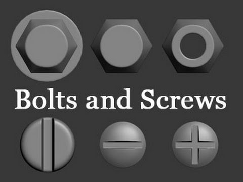 3D Modeling Tutorial #119 - Bolts and Screws (With download)