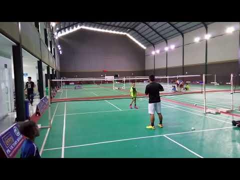 Fadiel training basic badminton #PBvictory #bogor