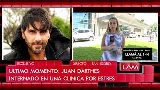 Los detalles de la internación de urgencia de Juan Darthés