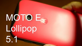 Android 5.1 Lollipop Update And Review on Moto E (HD)