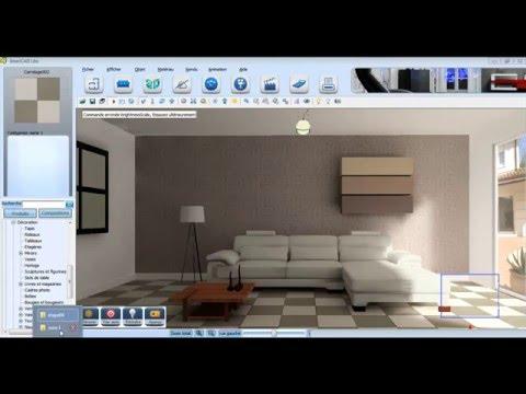 Projet décoration d'intérieur 3D réalisé avec InteriCAD Lite