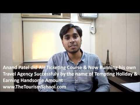 Anand Patel student The Tourism School running successful Travel Agency after course from Tourism Sc