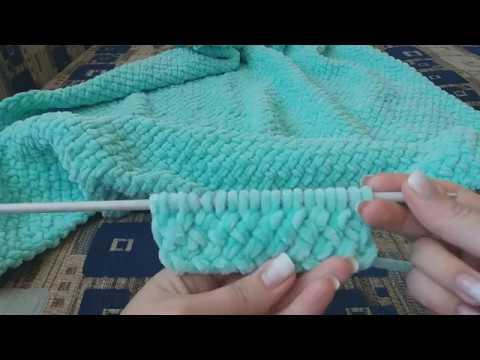 Одеяло связать спицами