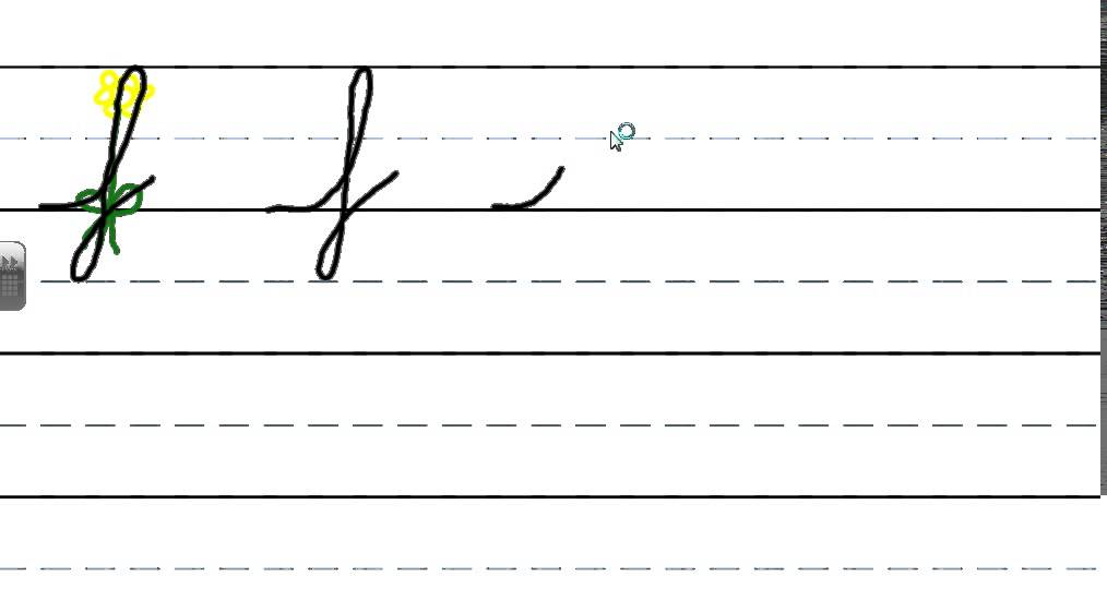 how to write cursive f