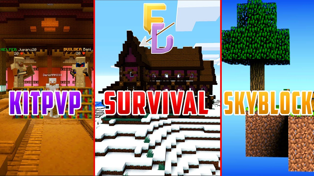Minecraft Server 1.8.9-1.16 Survival | SkyBlock | KitPVP - Fade Unity Romania