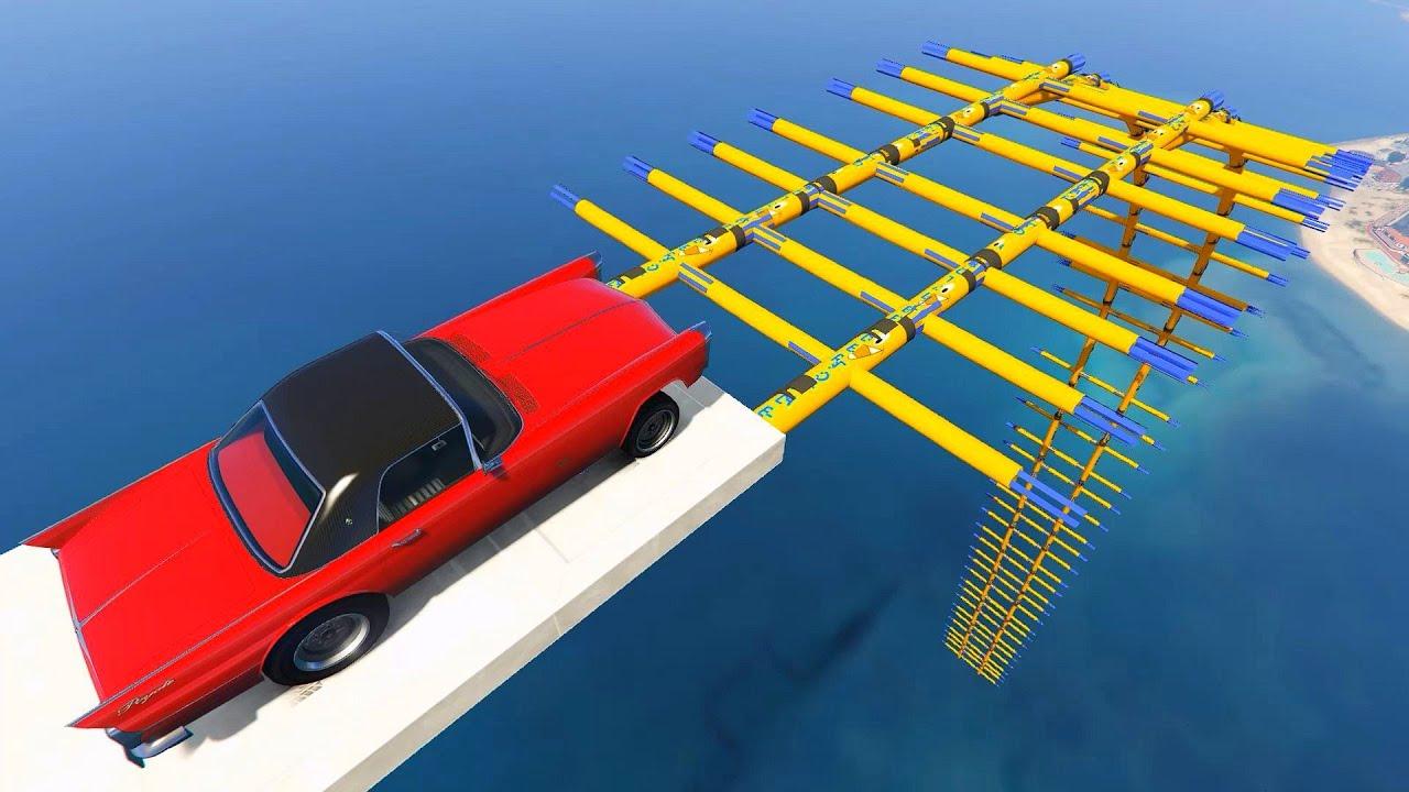 GTA 5 Online - Muscle Car vs Inflatable Air Dancers RAMP