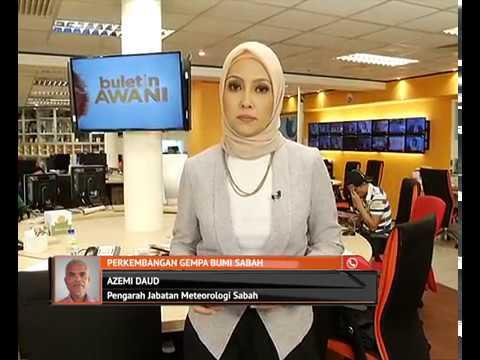 Perkembangan gempa bumi Sabah