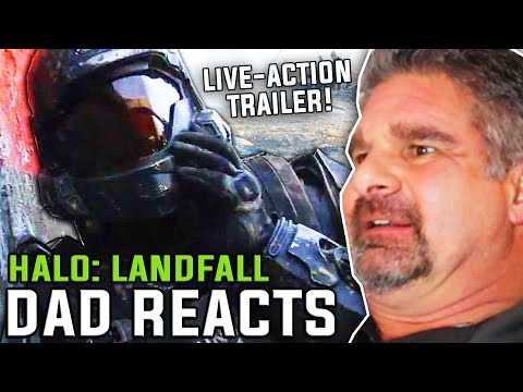 Dad Reacts To Halo Landfall Live Action Trailer Youtube