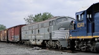 A DAY OF HERITAGE: Morristown & Erie 19s Final Run and an NYC E9A on Q409!!