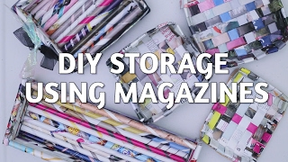 DIY Storage Using Magazines