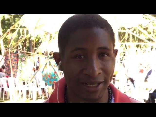 Evandro Moura Dias, quilombola, no IV ENA