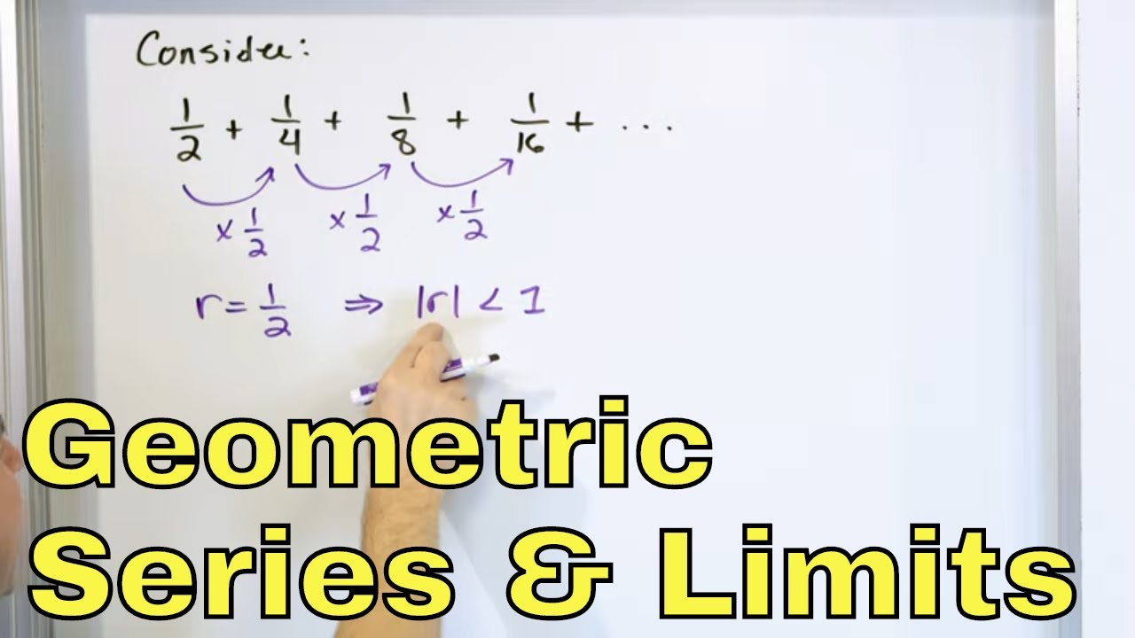 Infinite Geometric Series & Intro to Limits in Calculus – Part 1 – [18]