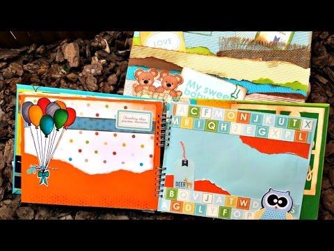 Album de bebe oso decoracion de hojas 5 youtube - Decoracion de album de fotos ...